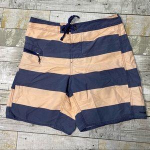 Vintage Patagonia men's striped swim trunks